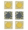Rang Rage Subdued Yellow Wooden Coasters - Set of 6