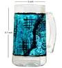 Rang Rage Turquoise Ajanta Handpainted Beer Mug - Set of 4