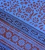 Rangdesi Blue Cotton Queen Size Bedsheet - Set of 3
