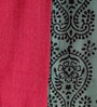 Pink Cotton Ethnic 108 x 91 Inch Double Bed Sheet (with Pillow Covers) by RangDesi