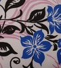 Blue and Pink Cotton Queen Size Bed sheet - Set of 5 by Raymond Home