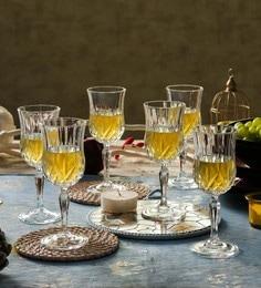 RCR Opera Crystal Glass 280 ML Wine Glasses - Set Of 6