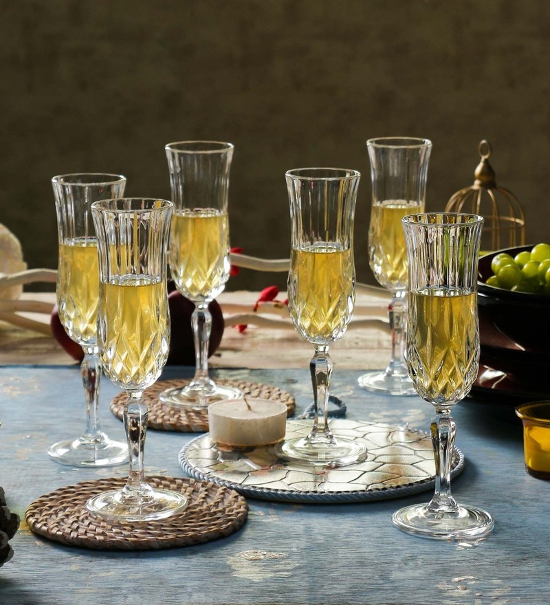 RCR Opera Crystal Glass 320 ML Champagne Flutes - Set of 6