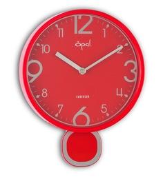 Red Plastic 8.5 Inch Designer Pendulum Abs Case Wall Clock