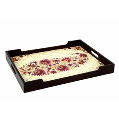 Reinvention Factory Multicolour Mdf Wooden Tray With Matt Finish - 1662824