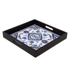 Reinvention Factory Multicolour Mdf Wooden Tray With Matt Finish - 1662826