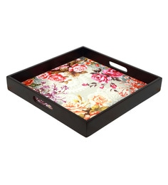Reinvention Factory Multicolour Mdf Wooden Tray With Matt Finish - 1662829