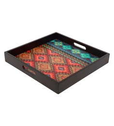 Reinvention Factory Multicolour Mdf Wooden Tray With Matt Finish - 1662832