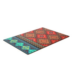 Reinvention Factory Multicolour Wooden Placemats With Kilim Design - Set Of 6
