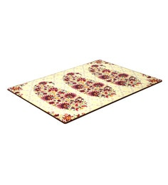Reinvention Factory Multicolour Wooden Placemats With Paisley Design - Set Of 6
