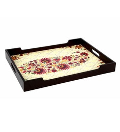 Reinvention Factory Multicolour Wooden Trays With Matt Finish - Set Of 3 - 1662790