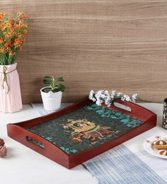 Reinvention Factory Raja Rani Wooden Large Tray