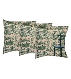 Reme Multicolour Cotton 18 X 18 Inch Alone Chair Cushion Covers - Set Of 3