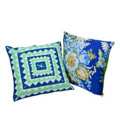 Reme Multicolour Cotton 18 X 18 Inch Embroidered & Digital Printed Cushion Covers - Set Of 2