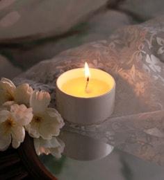 Resonance Candles Jasmine & Tuberose Fragrance Natural Wax Aroma Candle With White Holder