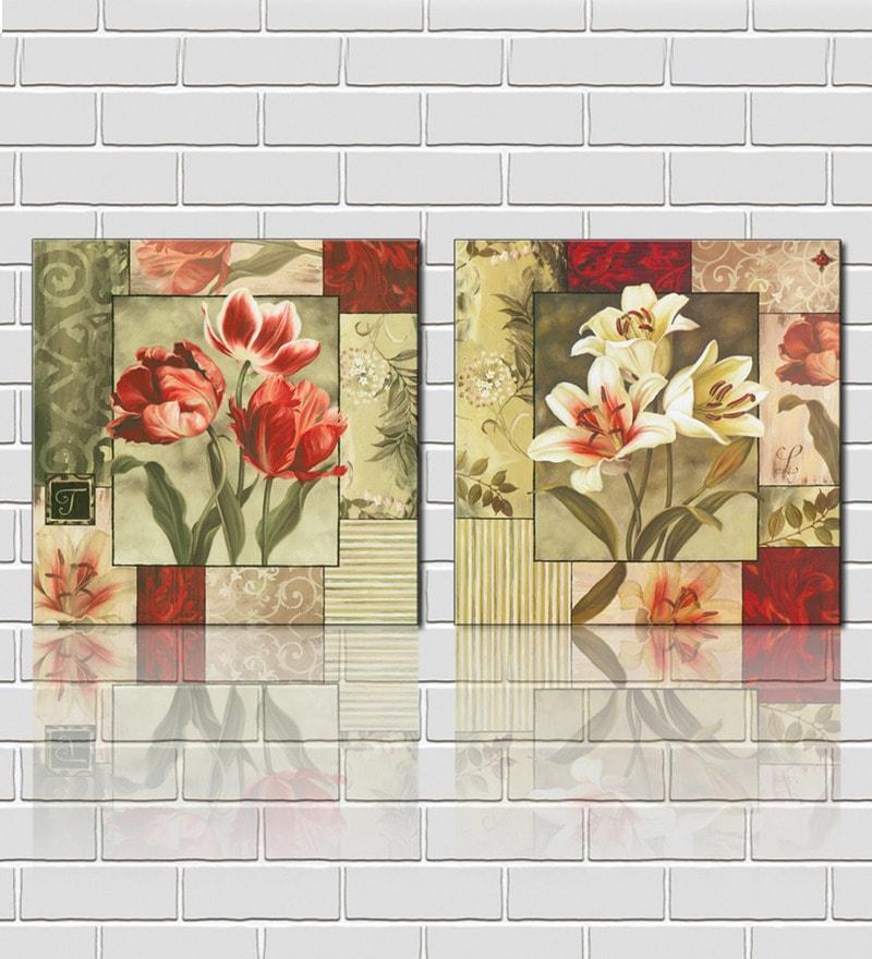 999 Store 3 Frame Splatter Multicolored Design Like Modern Wall Art ...