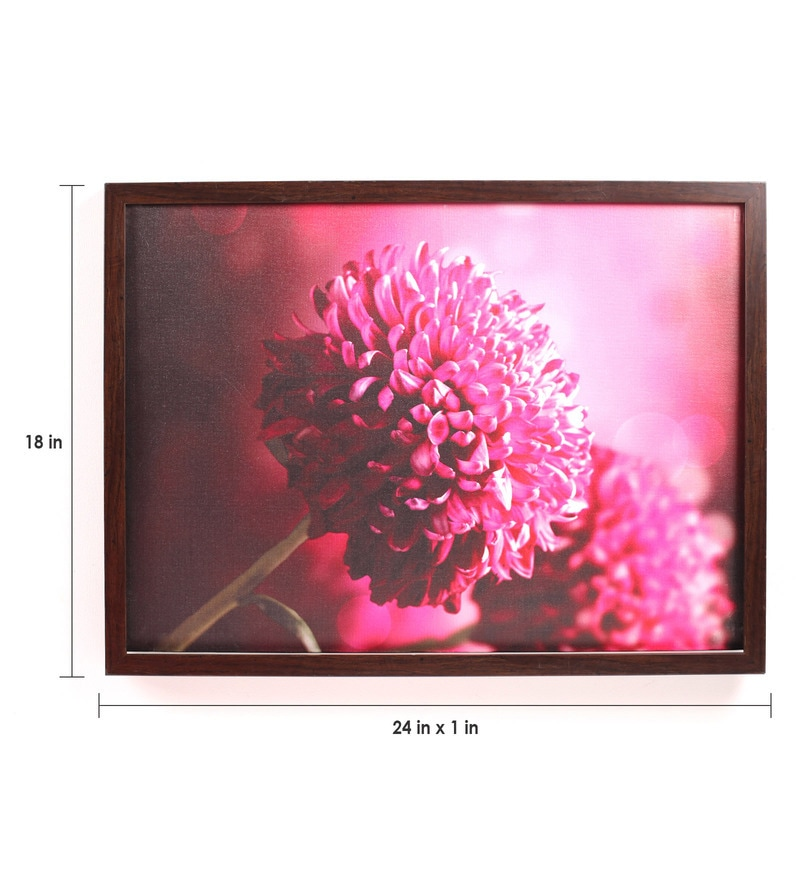 Buy wooden 18 x 1 x 24 inch retcomm pink flowers framed canvas click to zoom inout mightylinksfo