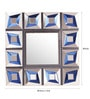 Renaissance Mirrors Blue MDF Square Decorative Mirror