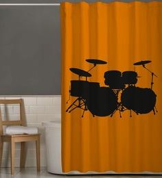 Orange   Black Polyester Shower CurtainShower Curtains   Buy Shower Curtains Online in India at Best  . Orange And Black Shower Curtain. Home Design Ideas