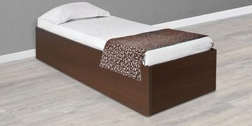 Ria Single Bed with Box Storage in Wenge Colour by HomeTown at pepperfry