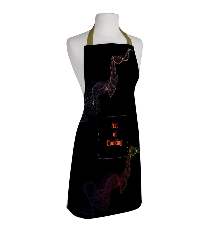 Right Black Polyester Art of Cooking Free Size Apron
