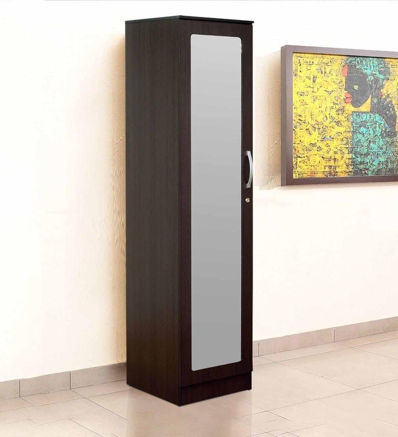 Rikotu One Door Wardrobe in Wenge Finish by Mintwud