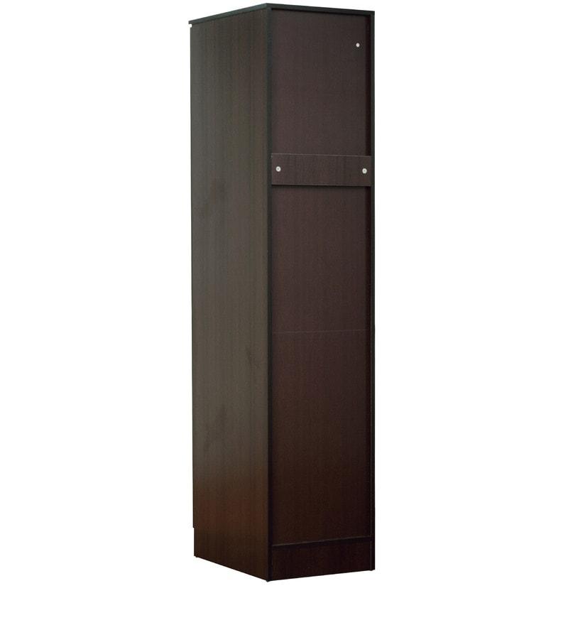 Buy Rikotu One Door Wardrobe In Wenge Finish By Mintwud