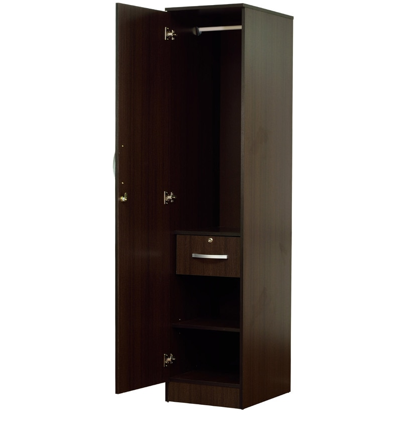 buy rikotu one door wardrobe in wenge finish by mintwud. Black Bedroom Furniture Sets. Home Design Ideas