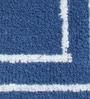 Riva Carpets Blue Cotton Rectangular 24 x 16 Inch Bath Mat