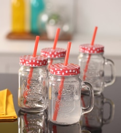 ROXX 480 ML Red Mason Jars
