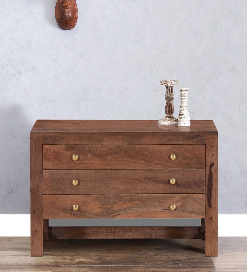 Rochester Chest of Three Drawers in Provincial Teak Finish by Woodsworth