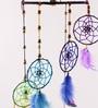 Rooh Multicolour Wool Rainbow Spiral Dream Catcher