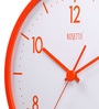 Orange Plastic 13 Inch Round Vivid Wall Clock by Rosetta