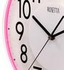 Rosetta Pink Plastic 12 Inch Round Wall Clock
