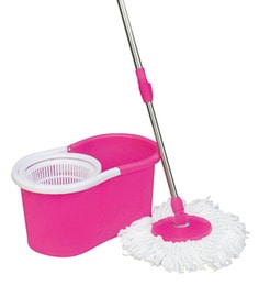 RUBY Pink Plastic Medium Magic Spin Mop Washer Cleaner