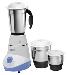 Russell Hobbs 500 Watt Mixer Grinder With Stainless Steel Jars & Silicone Lids