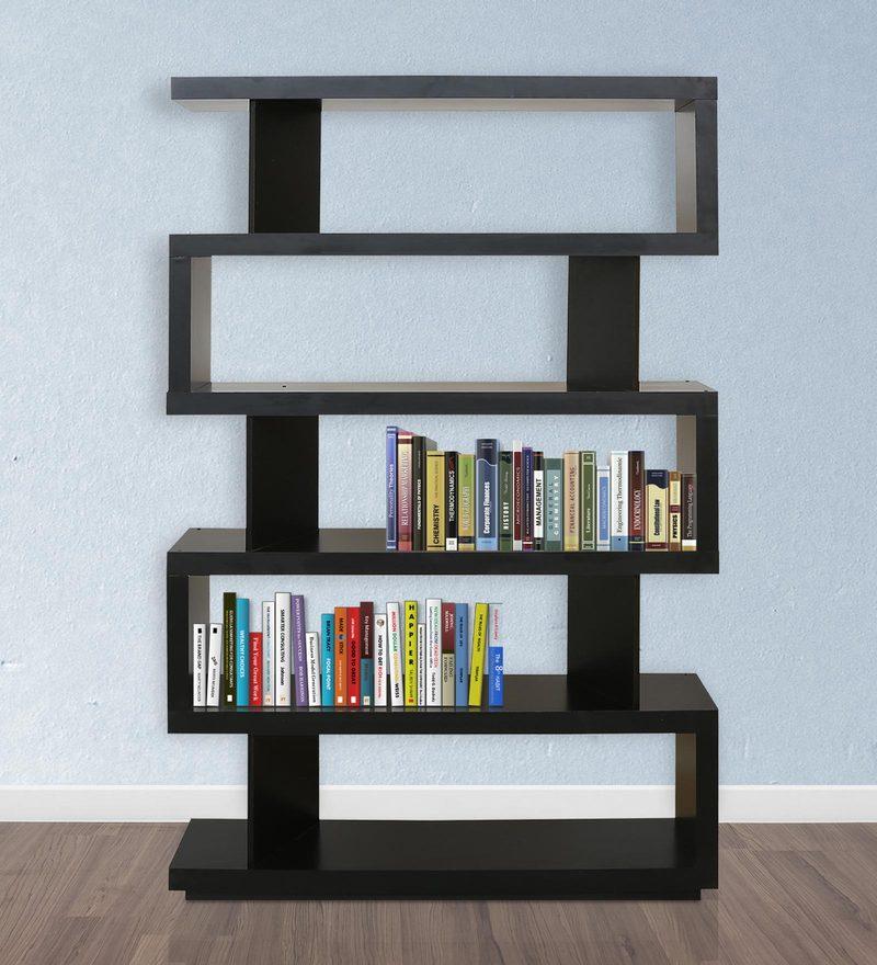 Rudy Display Unit cum Book Shelf in Black Colour by nuhoom