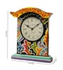 Multicolour Polyresin Rajhasthani Desk Clock by Rural Craft