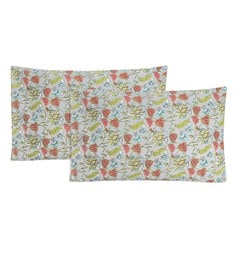 S9Home By Seasons Multicolour 100% Cotton 20 X 30 Inch Printed Pillow Cover - Set Of 2 - 1603106