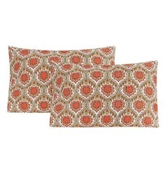 S9Home By Seasons Multicolour 100% Cotton 20 X 30 Inch Printed Pillow Cover - Set Of 2 - 1603113