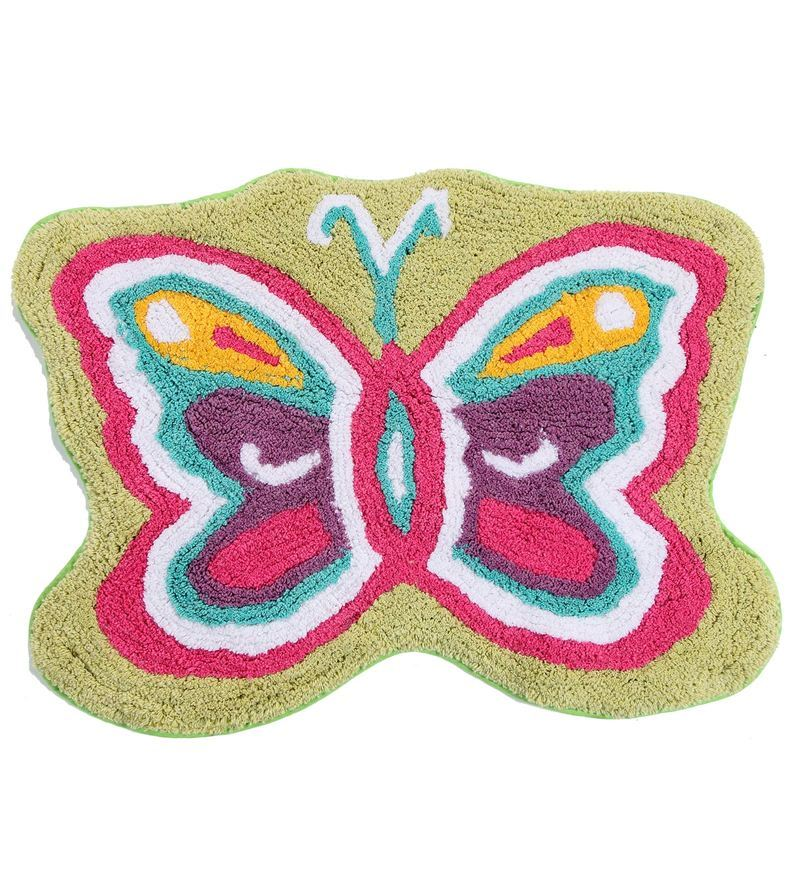 Premium Quality Butterfly Bath Mat in Multicolour by S9home by Seasons