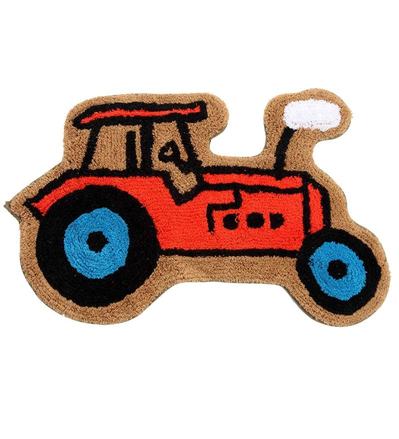 Premium Quality Tractor Bath Mat in Multicolour by S9home by Seasons