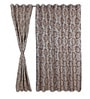 S9Home by Seasons Beige Polyester Floral Curtain - Set of 2