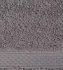 S9home by Seasons Gray Cotton Plain & Stripes Bath Towel