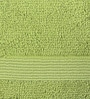 S9home by Seasons Green Cotton Plain & Stripes Bath Towel