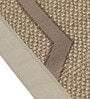 S9home by Seasons Premium Quality 6 Seater Khaki Polyester Table Placemats with Border - Set of 6