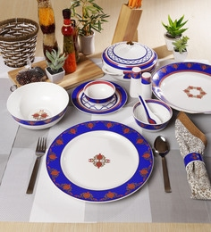 Sanjeev Kapoor Noor Collection Bone China Dinner Set - Set of 48 at pepperfry