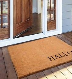 Saral Home Beige Coir 48 X 36 Inch Premium Quality Heavy Duty Door Mat