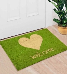 Saral Home Green Coir 24 X 16 Inch Premium Quality Welcome Door Mat