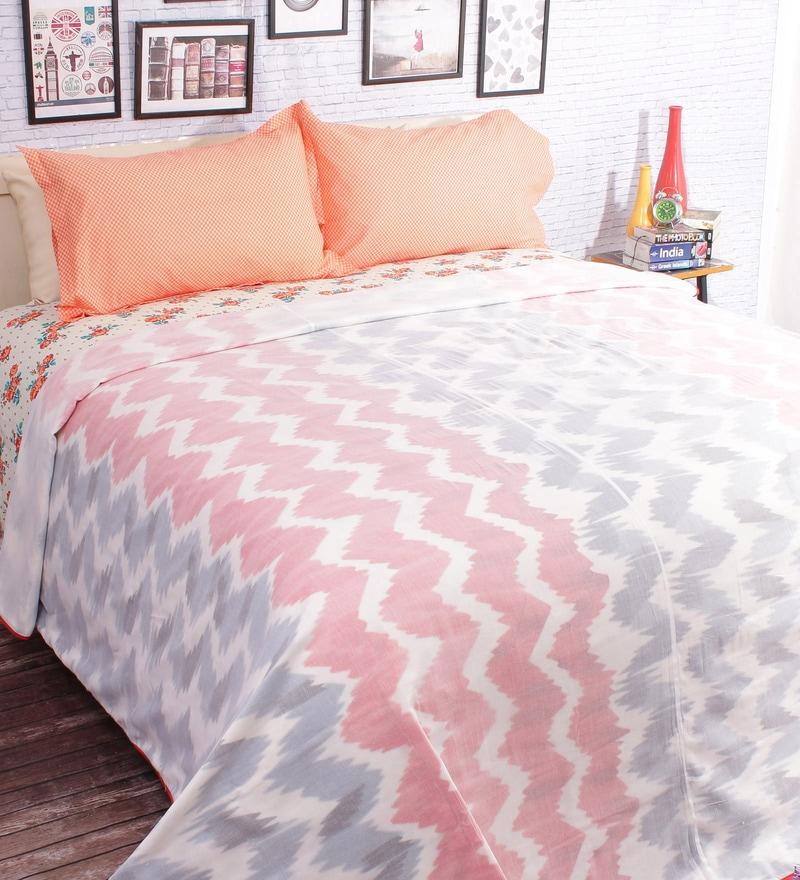 Red 100% Cotton Queen Size Blanket by Salona Bichona